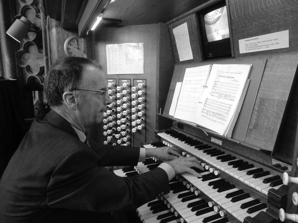 Tim Stuart, North Wales organist, playing at Lichfield Cathedral